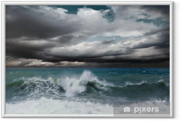 Plakat w ramie Seascape widok burzy - Tematy
