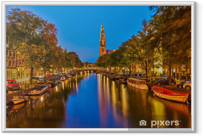 Vestkirken i Amsterdam Indrammet plakat - Europæiske Byer