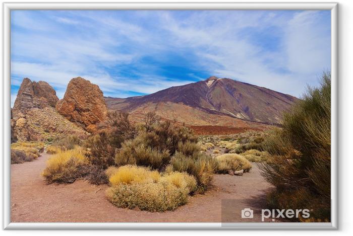 Plakat w ramie Palec Boży skały na wulkan Teide w Teneryfa - Wyspy Kanaryjskie - Tematy
