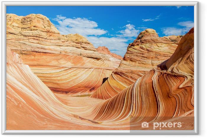 Poster i Ram Wave, Arizona stenig öken - Amerika