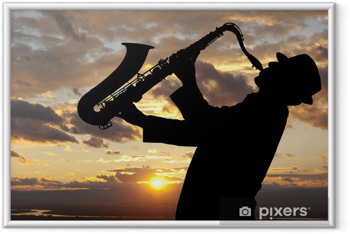 Póster Enmarcado Saxophonist - Entretenimiento