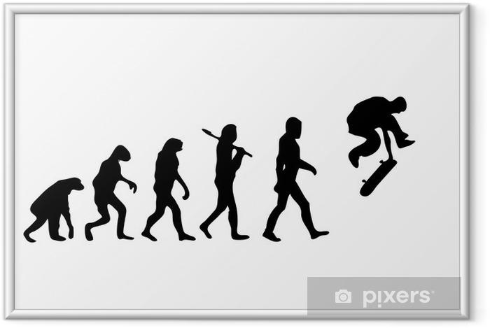 Plakat w ramie Evolution Skating - Skateboarding