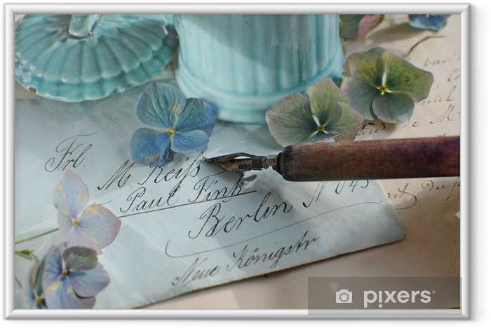 Póster Enmarcado Nostalgie - Flores