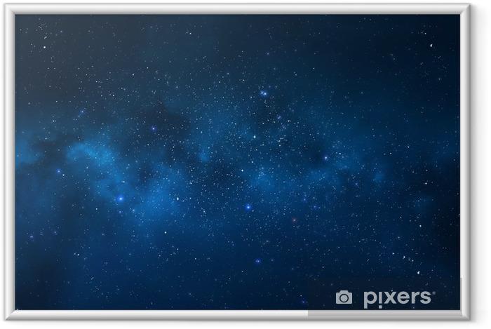 Póster Enmarcado Cielo nocturno - Universo lleno de estrellas, nebulosas y galaxias - Universo