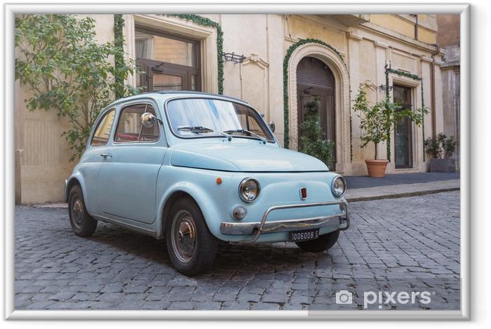 Plakat w ramie Fiat 500 na ulicach Rzymu - iStaging