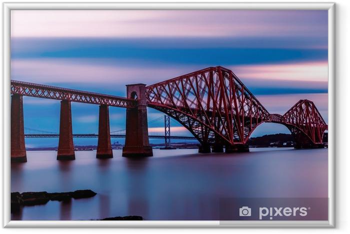 Póster com Moldura Forth Bridge Edinburgh - Temas