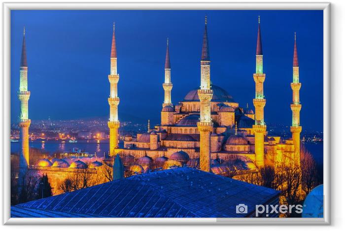 Póster Enmarcado La Mezquita Azul, Estambul, Turquía. - Europa