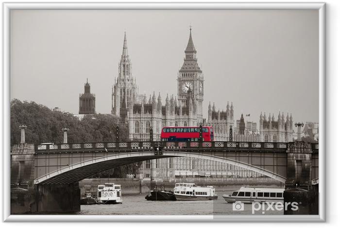 Poster en cadre Londonien -