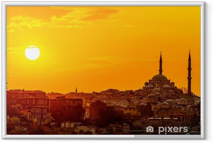 Ingelijste Poster Istanbul zonsondergang - Thema's