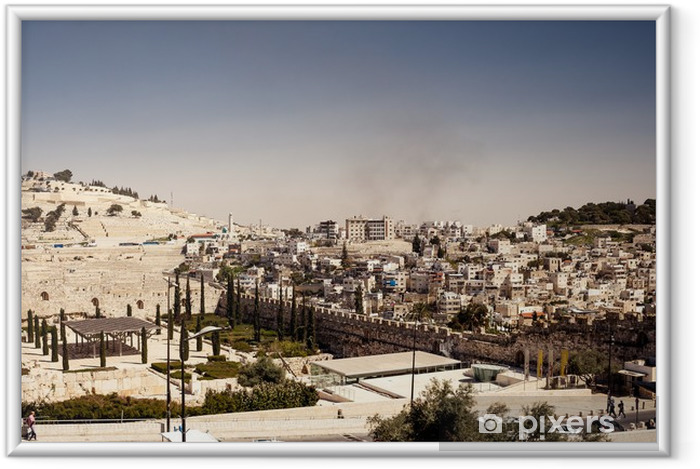 Plakat w ramie Jerozolima - Izrael - Budynki użyteczności publicznej