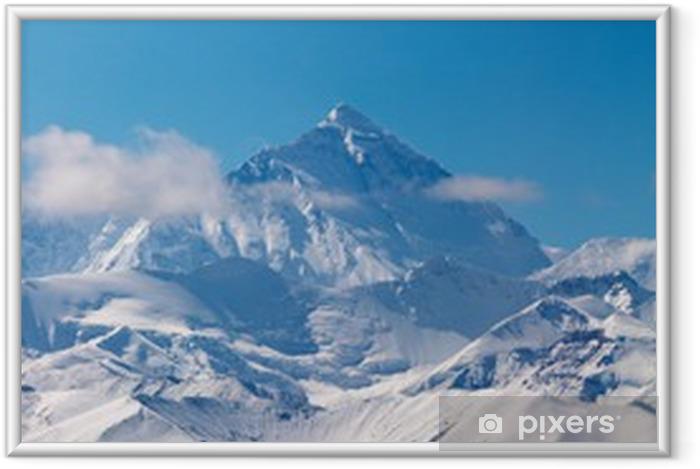 Ingelijste Poster Mount Everest, uitzicht vanaf Tibet - Thema's