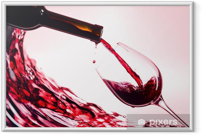 Ingelijste Poster Rode wijn - Wijn