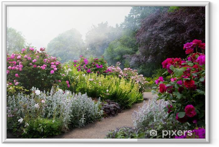 Plakat w ramie Sztuki kwiaty rano w angielskiej parku -