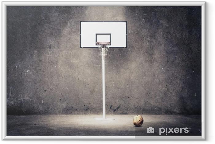 Poster i Ram Basketkorg - Basket