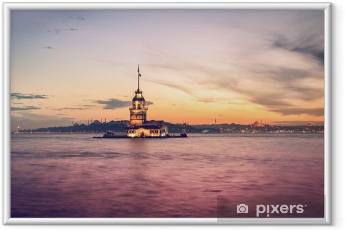 Ingelijste Poster Maiden's Tower, Istanbul, Turkije - Europa