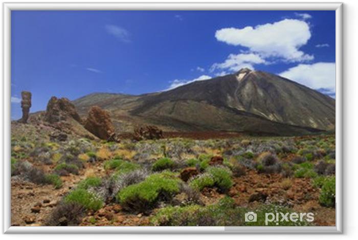 Plakat w ramie Panoramiczny obraz wulkanu Teide na Teneryfie - Tematy