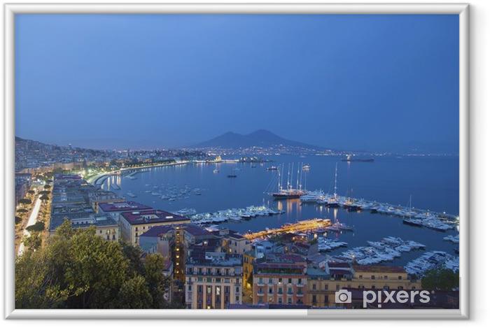 Plakat w ramie Napoli w nocy - Europa