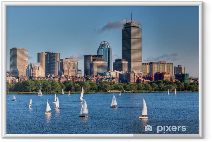 Ingelijste Poster Boston Horizon en Zeilboten - Amerika