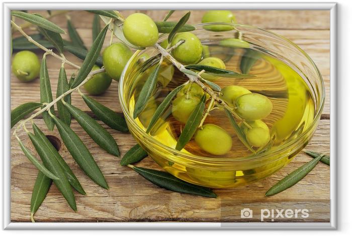 Plakat w ramie Oliwa z oliwek i oliwki - Oliwki