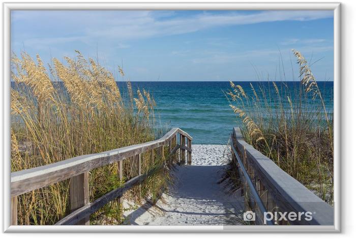 Póster Enmarcado El paseo marítimo con dunas y mar avena - Temas