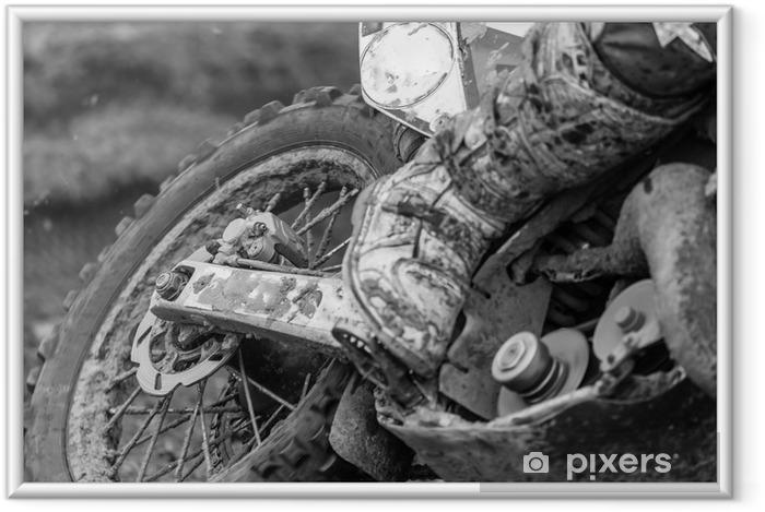 Plakat w ramie Motocross - Sporty ekstremalne