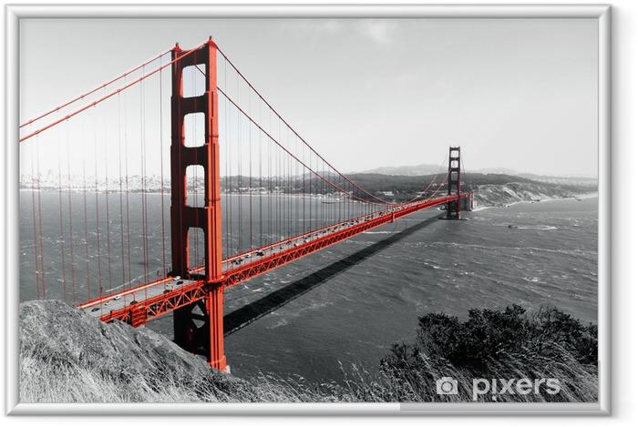 Poster en cadre le pont du Golden Gate - iStaging
