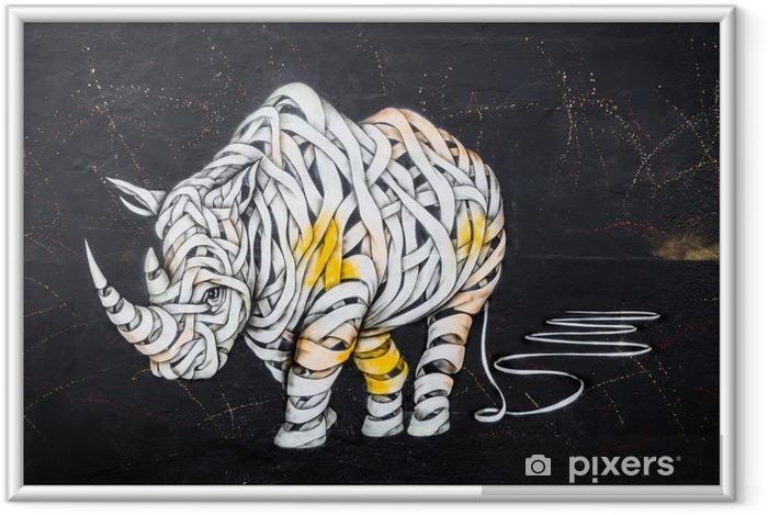 Plakat w ramie Tag nosorożca - Hobby i rozrywka