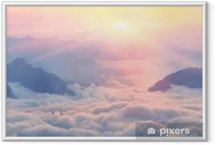 Ingelijste Poster Dawn boven de zee van mist - Landscapes
