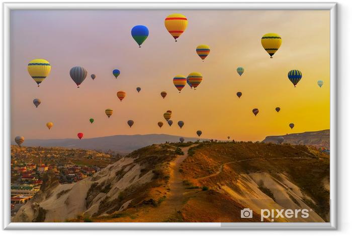 Ingelijste Poster Ballonnen CappadociaTurkey. - Overige