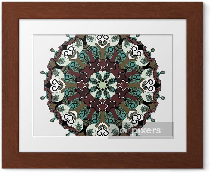 Çerçeveli Poster Mandala. Klasik elemanlar. vektör çizim - Grafik kaynakları