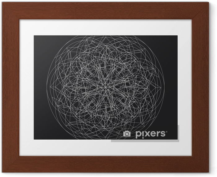 Plakat w ramie Geometryczny wzór element_star pattern_vector_line - Zasoby graficzne