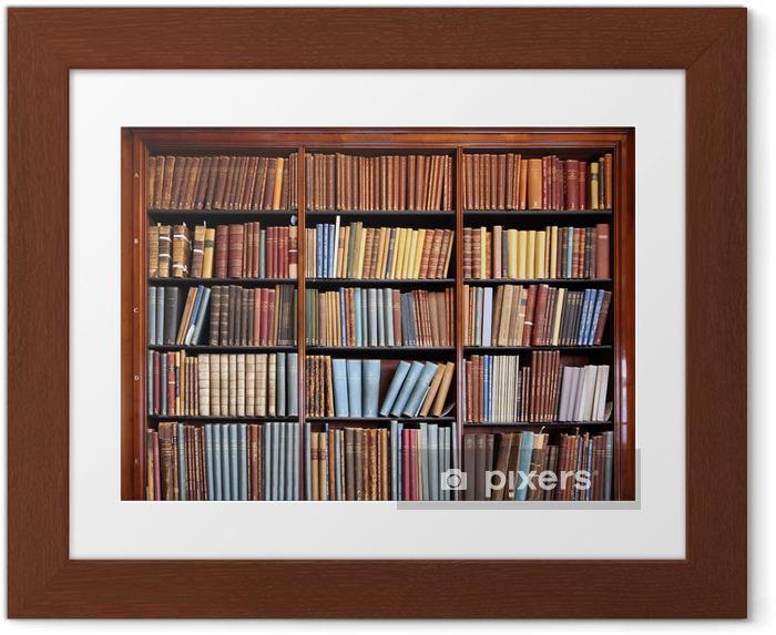 Plakat w ramie Stary regał biblioteczny - Biblioteczka