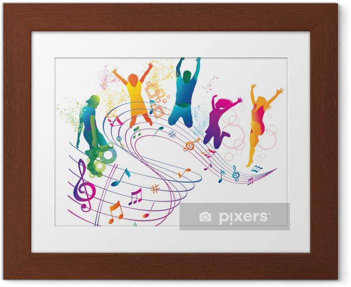 Poster en cadre Saut active et des gens qui dansent. Contexte pour le Parti. - Divertissements