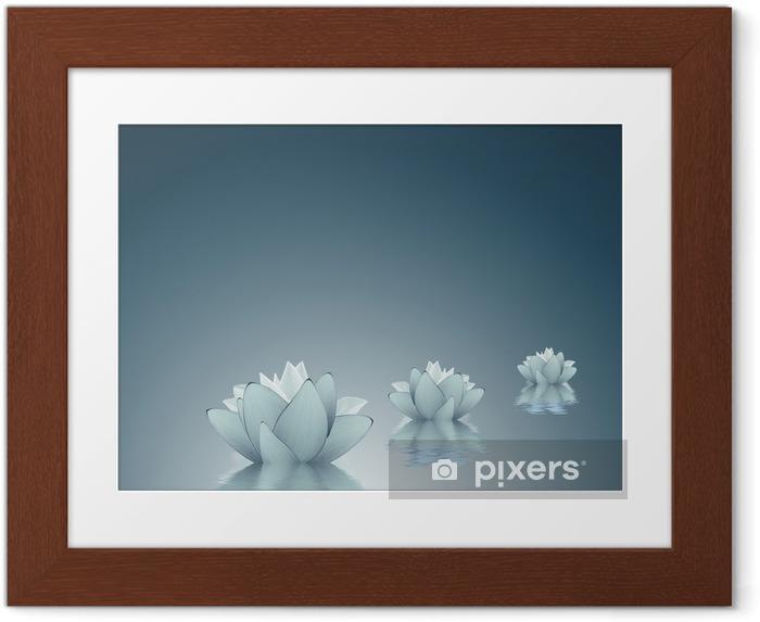Póster Enmarcado Lotus - Pureza fondo - Belleza y cuidado personal
