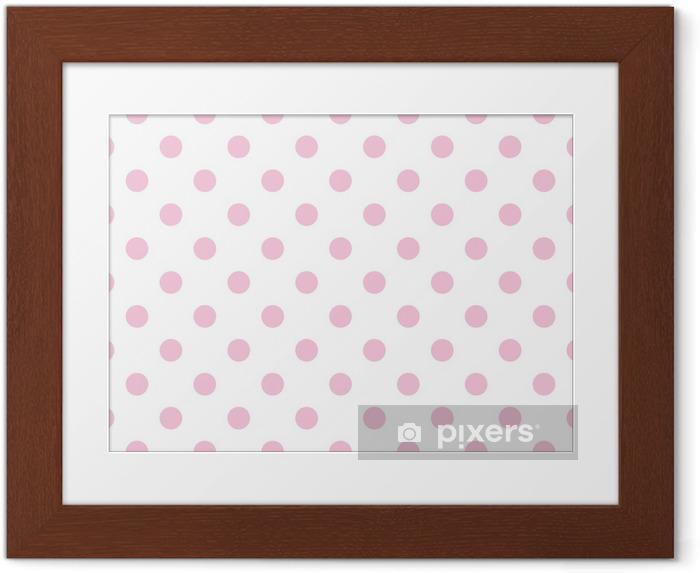 Poster en cadre Vector Seamless rose pastel pois de fond blanc - Thèmes