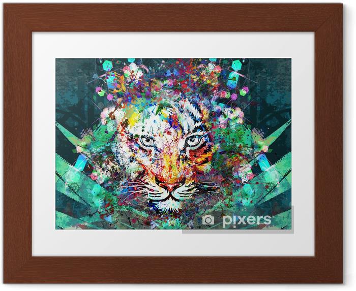 Plakat w ramie Tygrys w dżungli - Zwierzęta