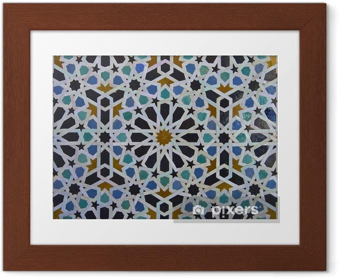 Ingelijste Poster Zellige Marokkaanse Patroon van de Tegel - Borden