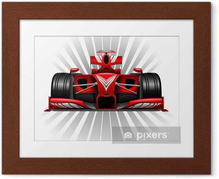 Ingelijste Poster Formule 1 Red Racing Car - Thema's
