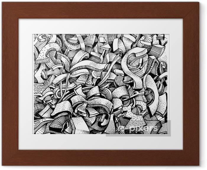Póster Enmarcado Garabatos abstractos - Medio ambiente