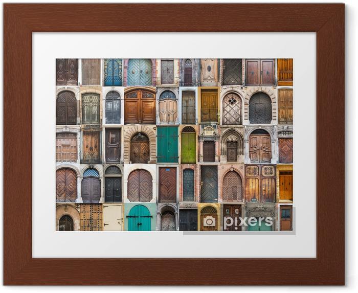 Gerahmtes Poster Collage Fotos von Türen - Öffentliche Gebäude