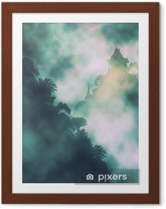 Plakát v rámu Mystic hora chrám - Krajiny