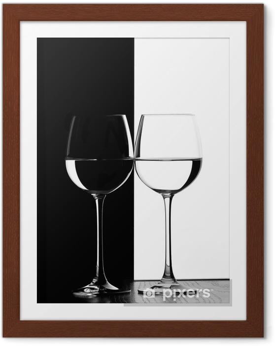 Póster Enmarcado Dos copas de vino - Vino