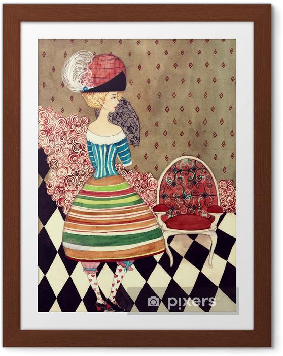 Poster en cadre Fées dame - Mode