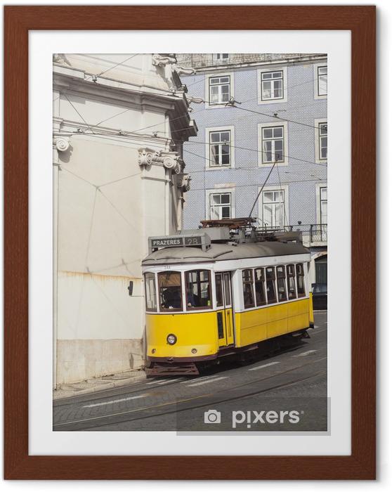 Plakat w ramie Tramwaj nr 28 w Lizbona, Portugalia. - Miasta europejskie