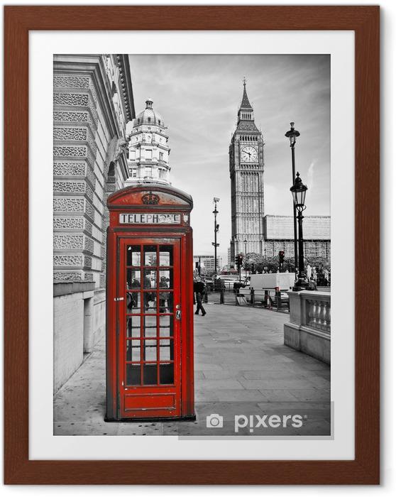 Póster Enmarcado Londres impresión -