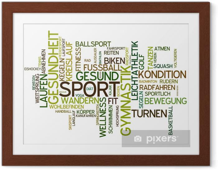 Plakat w ramie Sport - Znaki i symbole