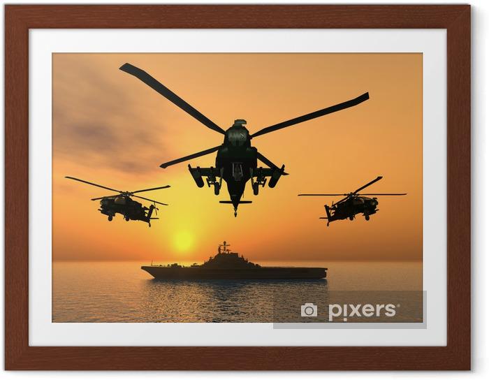 Ingelijste Poster Apache helikopter - Thema's
