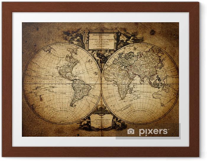 Poster en cadre Carte du monde 1752 - Thèmes