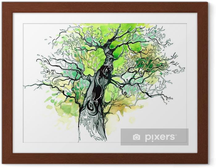 Plakat w ramie Pnia drzewa - iStaging