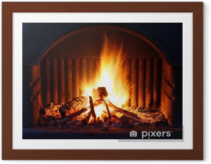 Plakat w ramie Kominek z ogniem - Tematy